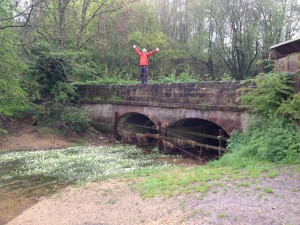 Glen standing on one of the earlier bridges over the River Thames