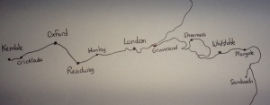 Krista Handdrawn Map of the Thames