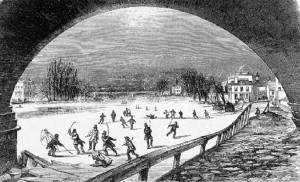 Thames me uk Frozen Thames 1855