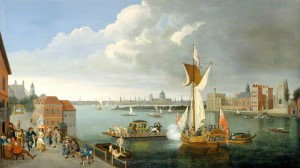 The Thames at Horseferry by Jan Griffier, 1706-1710