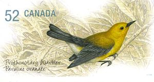 Prothonotary-Warbler-Protonotaria-citrea stamp small