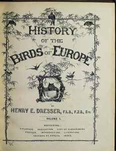 Henry E Dresser History of the Birds of Europe vol 1 auctions bidsquare com
