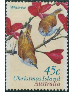 Christmas Island White-eye www koalastamps com